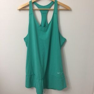 NIKE Size XL Green Racerback Dress